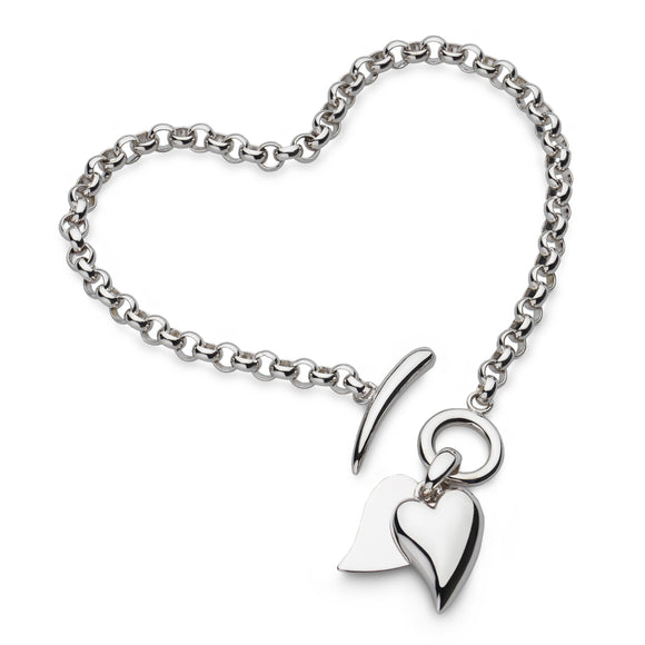 Desire Love Duet Heart T-Bar Bracelet