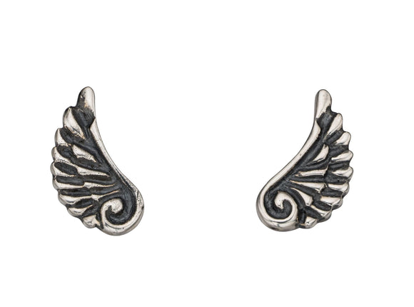 Sterling Silver wings stud earrings