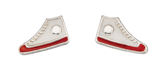 Sterling Silver hi-top stud earrings
