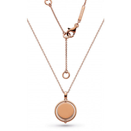 Kit Heath  Empire Revival Round Spinner Rose Gold Necklace