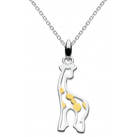 Dew Sterling Silver & 14ct gold plate Stand Tall Giraffe Pendant