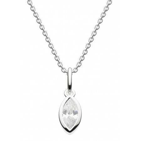 Dew Sterling Silver Marquise Gemstone Pendant