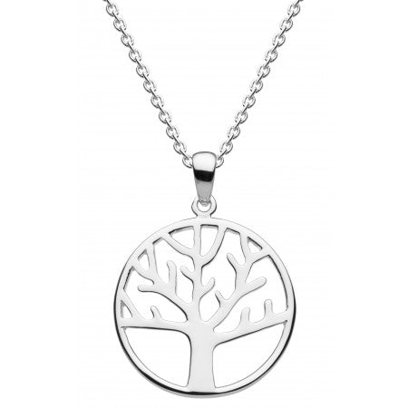 Dew Sterling Silver  Simple Tree of Life Pendant