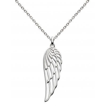 Dew Sterling Silver  Angel Wing Pendant
