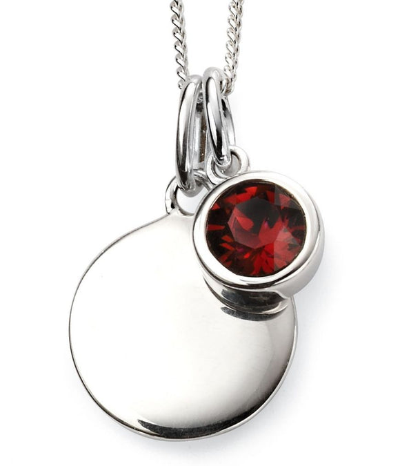 Sterling Silver January Birthstone Pendant