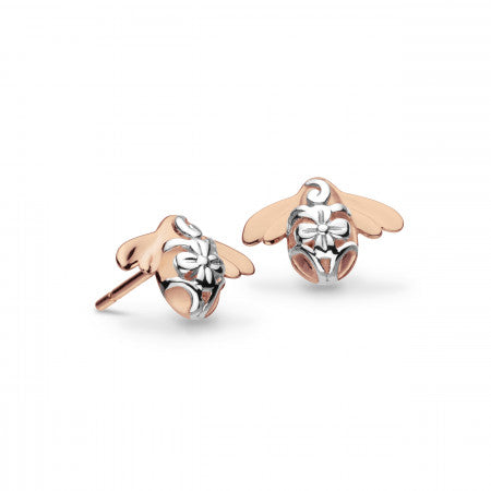 Kit Heath Blossom Bumblebee Rose Gold Plated Stud Earrings