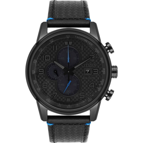 Citizen Gents Black Chronograph Eco-Drive Watch