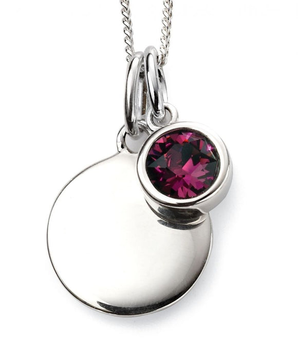 Sterling Silver February Birthstone Pendant