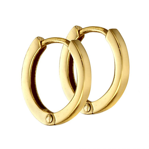 Silver Gold Plated Mini Flat Profile Hoops