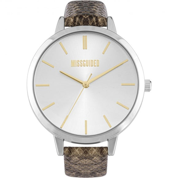 Missguided Ladies Snake Pattern Strap Watch