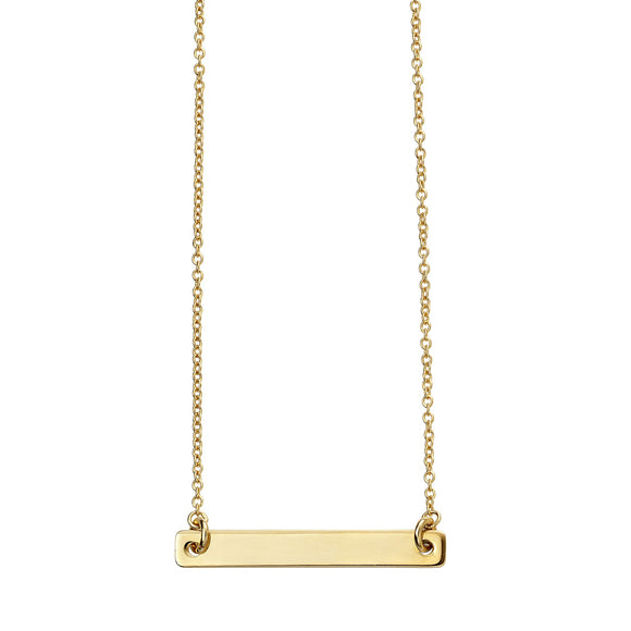 Silver Gold Plated Engravable ID 41-50cm necklace