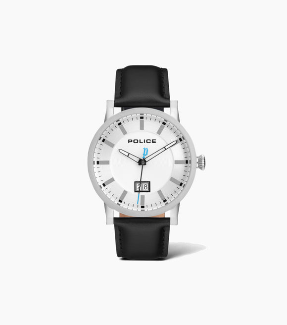 Police Gents Collin Leather Strap Watch