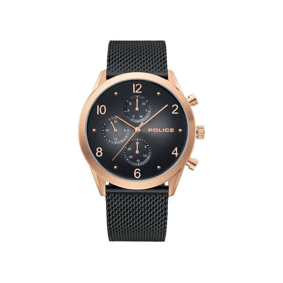 Police Men's Silfra Black Bracelet Watch