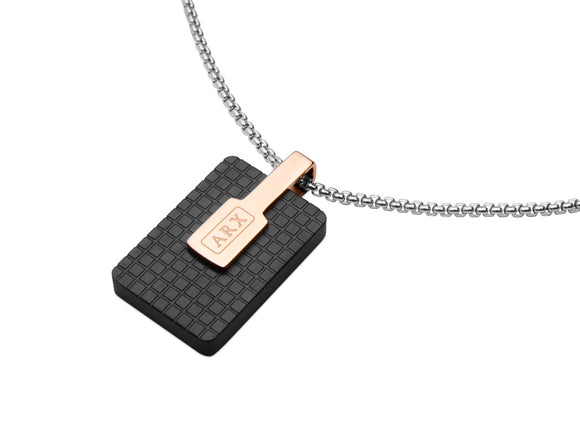 Jos Von Arx Black & Rose Gold Plated Pendant