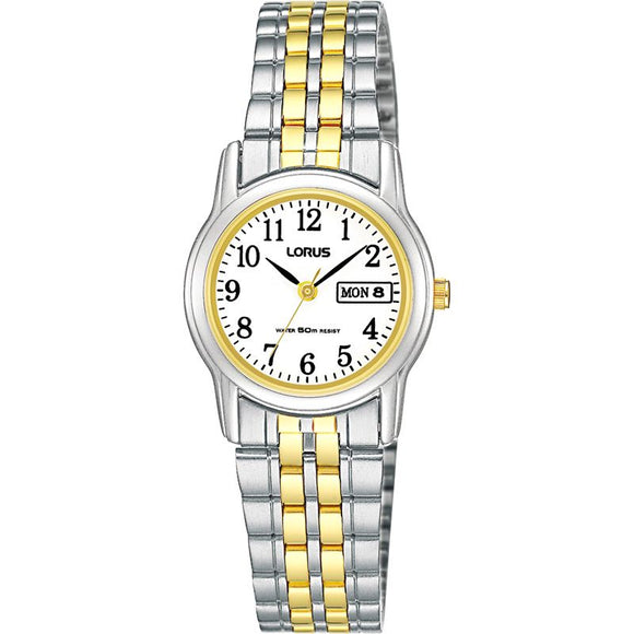 Lorus Ladies 2 Tone Bracelet Watch