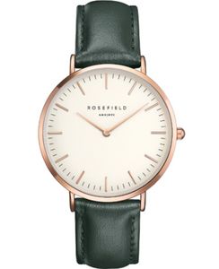Rosefield The Bowery Rose White Green Watch BWGER-B16