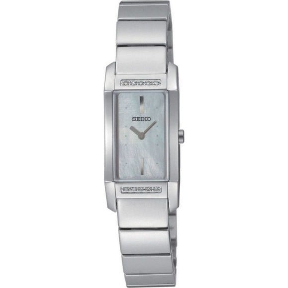 Seiko Diamond White Dial Stainless Steel Bracelet Ladies Watch SUJF53P1