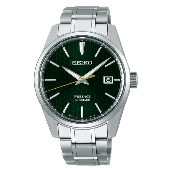 Seiko Presage Green & Silver Stainless Steel Automatic Men's Watch