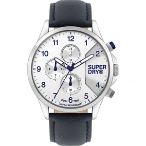 Superdry Gents Leather Strap Watch