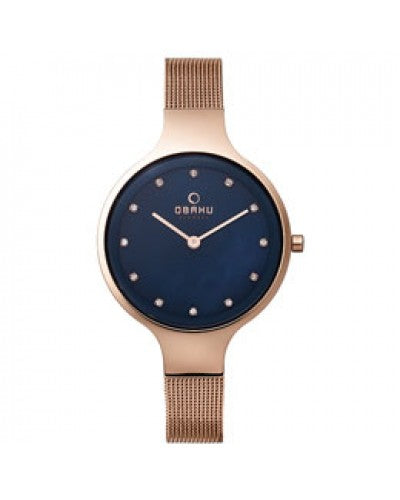 Obaku Ladies Sky Azure Mesh Bracelet Watch