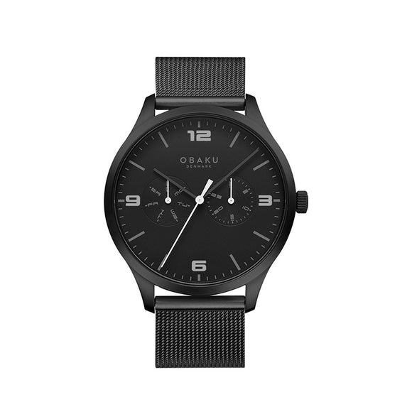 OBAKU ASK - CHARCOAL MESH BRACELET WATCH