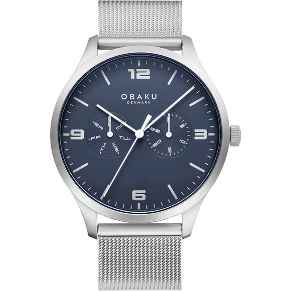 OBAKU ASK - CYAN S/STEEL BRACELET WATCH