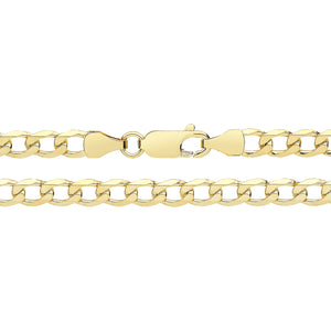9ct Yellow Gold Flat Curb Chain