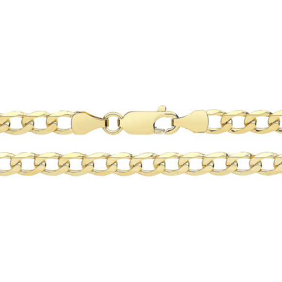 9ct Yellow Gold Flat Curb Bracelet