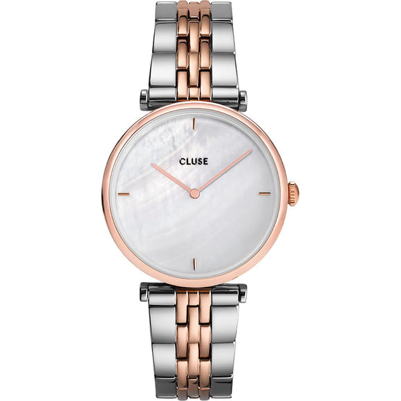 Cluse Triomphe Steel White Pearl, Rose Gold Colour