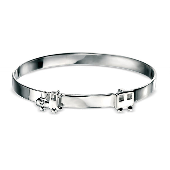 D for Diamond Train and Carriage Bangle