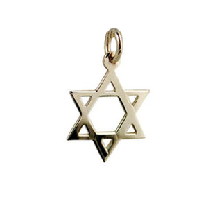 9ct Yellow Gold 17x17mm plain Star of David Pendant
