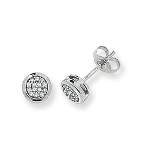 9ct White Gold Diamond Stud Earring