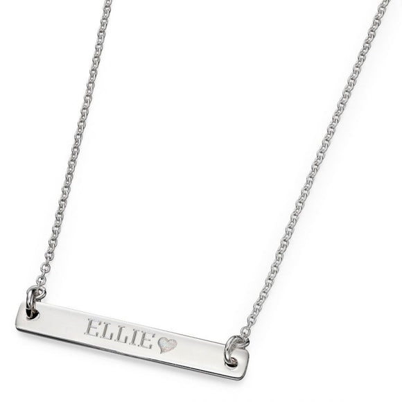 Sterling Silver Id Necklace