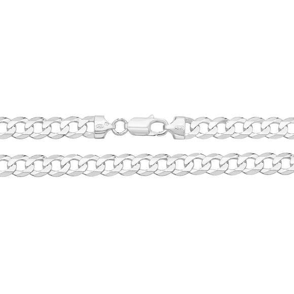 Sterling Silver Flat Curb Chain