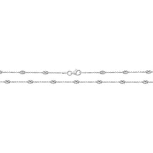 Sterling Silver Oval Moon Chain