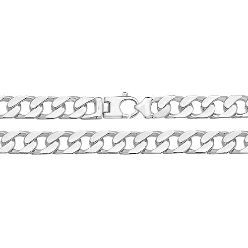 GENTS STERLING SILVER SQUARE CURB CHAIN