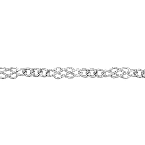 STERLING SILVER LADIES CELTIC DESIGN BRACELET
