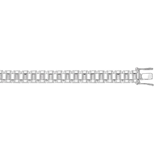 SILVER WATCH STRAP BRACELET 8MM LINK