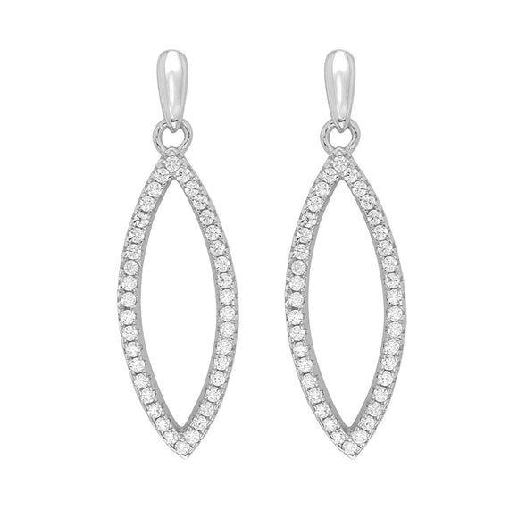 Sterling Silver CZ Drop Earring