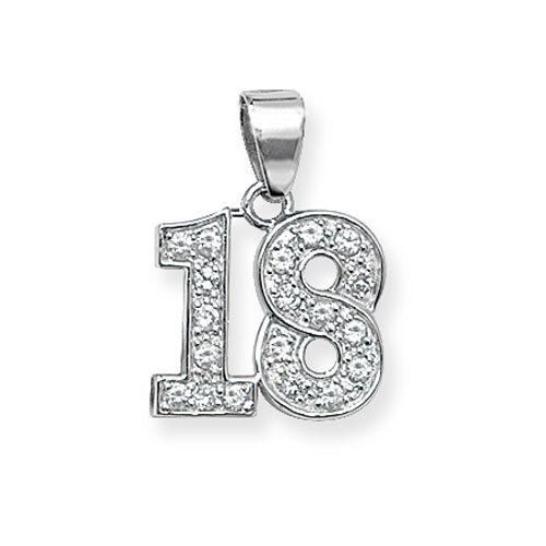 Sterling Silver 18th Birthday Pendant