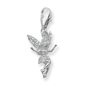 Sterling Silver CZ Tinkerbell Pendant