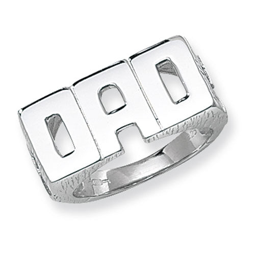 Sterling Silver Gents Dad Ring