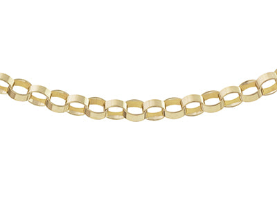 7.5 INCH 9CT GOLD 6MM FLAT PAPER CHAIN BRACELET