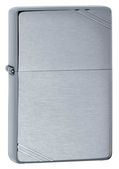 Zippo Vintage Brushed Chrome Lighter with Slashes 230