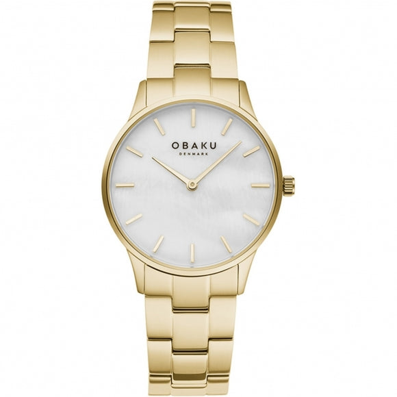 OBAKU LYNG LILLE - GOLD PLATED BRACELET WATCH