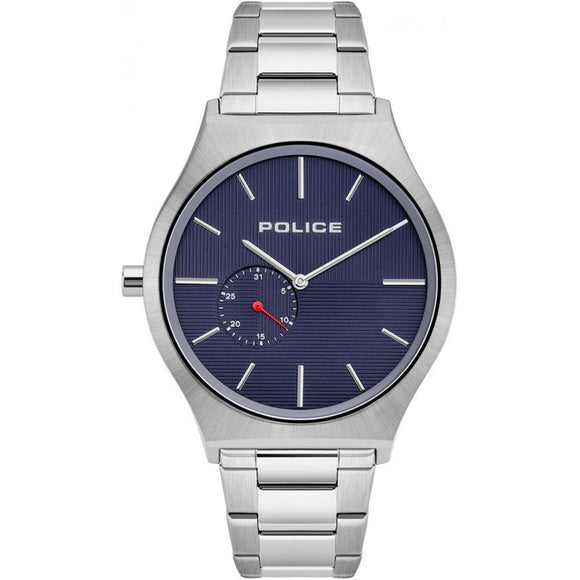Police Men's Orkneys Stainless Steel Bracelet Navy Dial