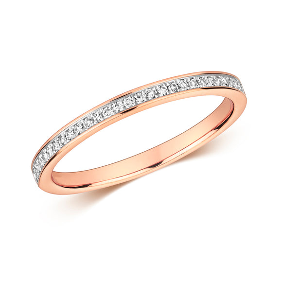 9CT ROSE GOLD  DIAMOND RING