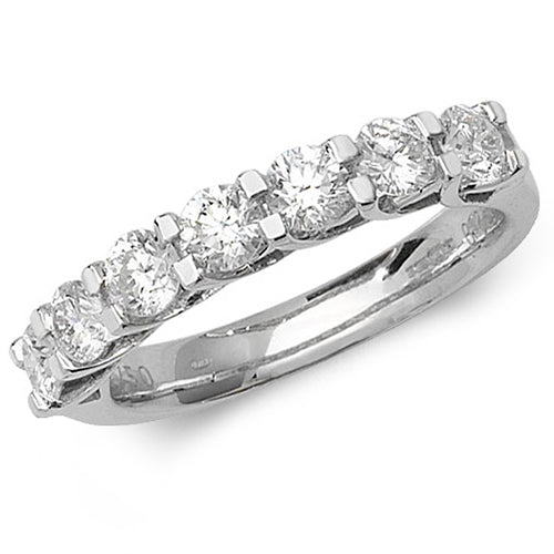 18ct White Gold 7 Stone Diamond Half Eternity Ring