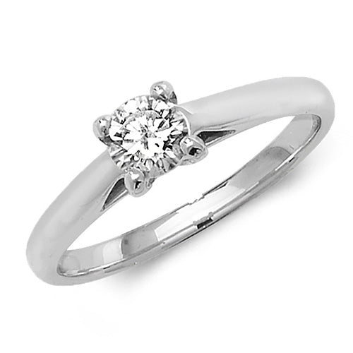 18ct White Gold 4 Claw Diamond Solitaire Ring