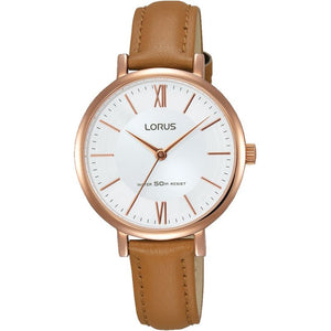 Lorus Ladies RPG Tan Leather Strap Watch